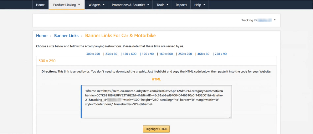 how-to-generate-banner-links-on-amazon-associate